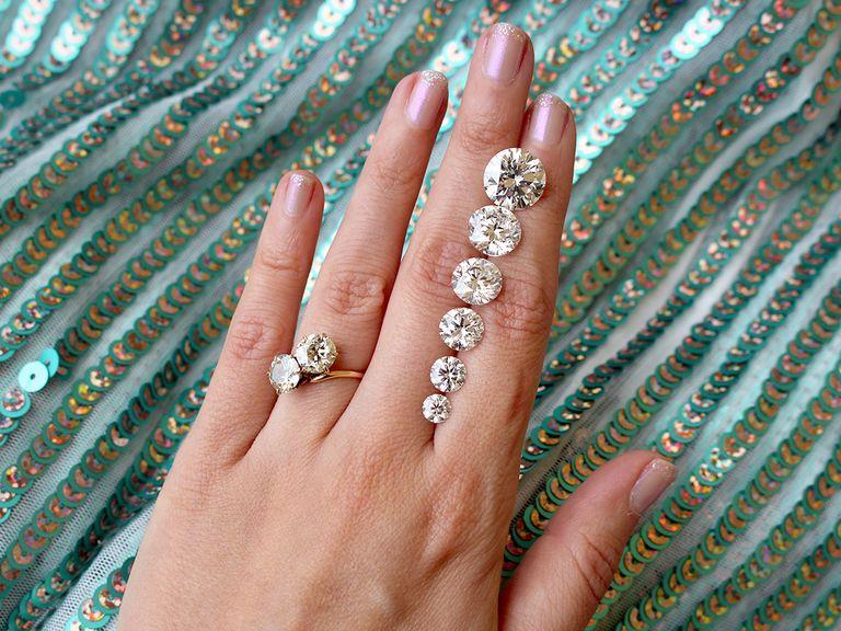 diamond on the hand